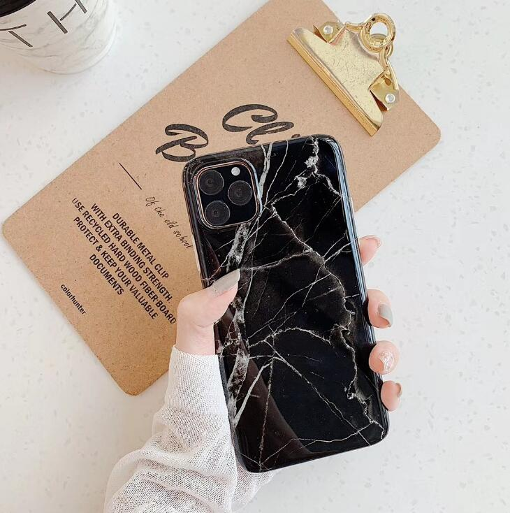 New iPhone11Pro max marble pattern for IPHONE XS MAX mobile phone case 7P all-inclusive imd soft shell xr wireless bluetooth earbuds