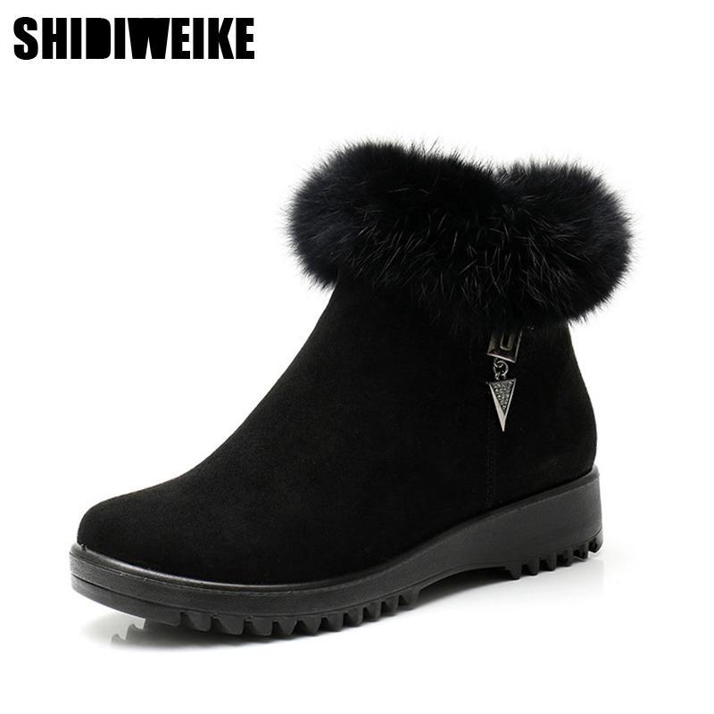 2020 Novas Cunhas Inverno Mulheres Ankle Boots Pele De Falso Creepers Sapatos Casuais Mulher Mulheres Sapatos de Plataforma x296