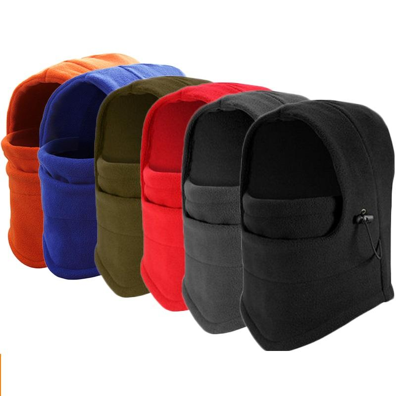 2pcs/lot Winter Warm Fleece Full Face Cycling Mask Windproof Double Layer Riding Hat Multifunction Outdoor Sport Cap For Men & Women