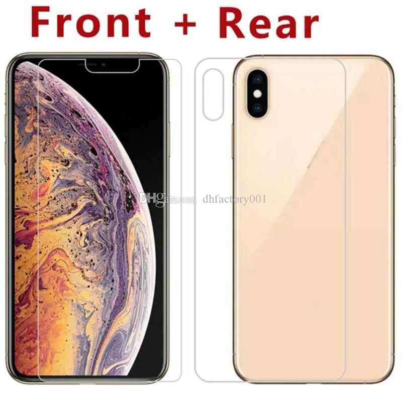 Front + Back Rear Tempered Glass For New IPhone XR XS MAX X 10 8 Plus Screen Protector Protective Film Transparent Without Package