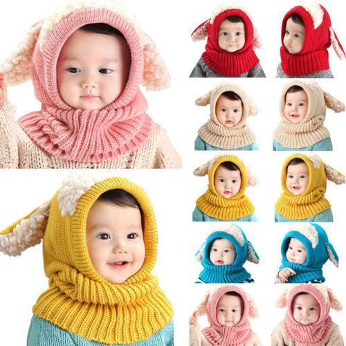 2019 Cute Toddler Kids Girl Boy Baby Infant Winter Warm Crochet Knit Hat Beanie Cap Hot