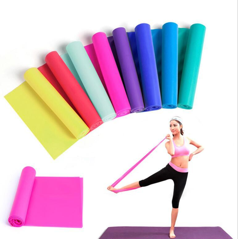 1 5m Yoga Pilates Stretch Resistance Band Exercise Fitness Training Yoga Tension Belt Elastic Stretch Band Do Resistance Bands Work Power Rack From Anjuen 1 2 Dhgate Com