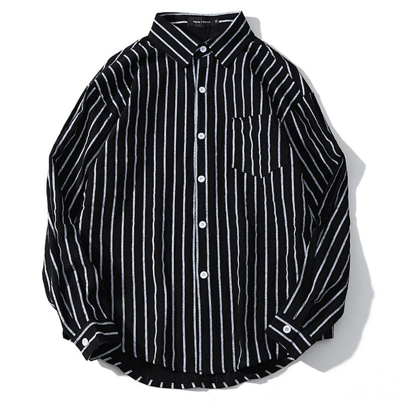 Più di formato 2XL-5XL 7XL 8XL 9XL 10XL uomini camicie banda verticale lungo-manicotto di camicie nere cime degli uomini busto camicia 165 centimetri