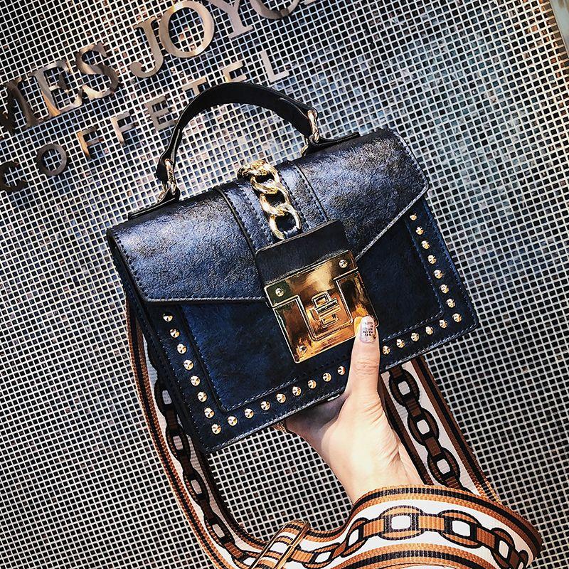 Bolsa de luxo Para As Mulheres Sacos De Designer De Rebite Do Vintage Ombro Noite Saco de Embreagem Pu Mensageiro De Couro Sacos Crossbody Tote Bolsa J190611