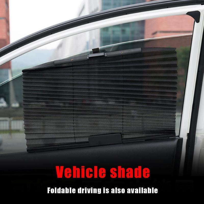 개폐식 접는 자동차 태양 그늘 자동차 사이드 윈도우 UV 보호 커튼 실드 블랙 베이지와 그레이 600x460x130mm