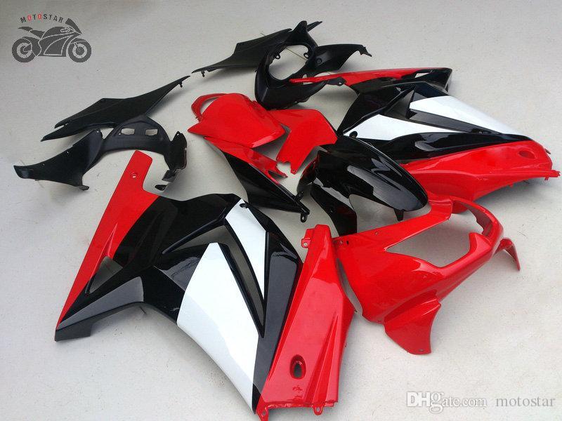 carenagens injeção definidos para a Kawasaki Ninja 250R 2008 2009 2010 2011 2012 ZX250R ZX 250 EX250 08-12 kits carenagem preta chinesa vermelhas