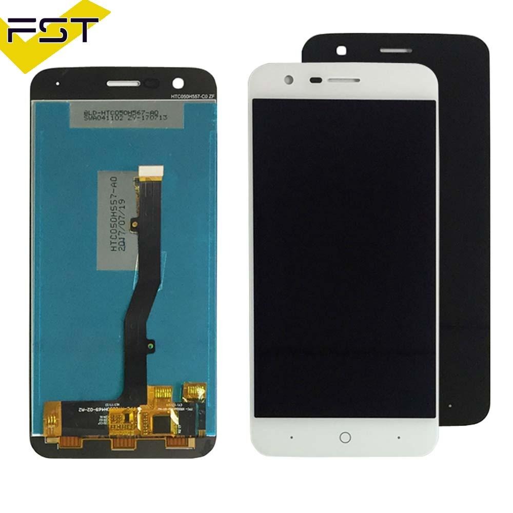 Black/White For ZTE V8 Lite LCD Display+Touch Screen Assembly Replacement Parts Cell Phone Accessories+Tools+Adhesive