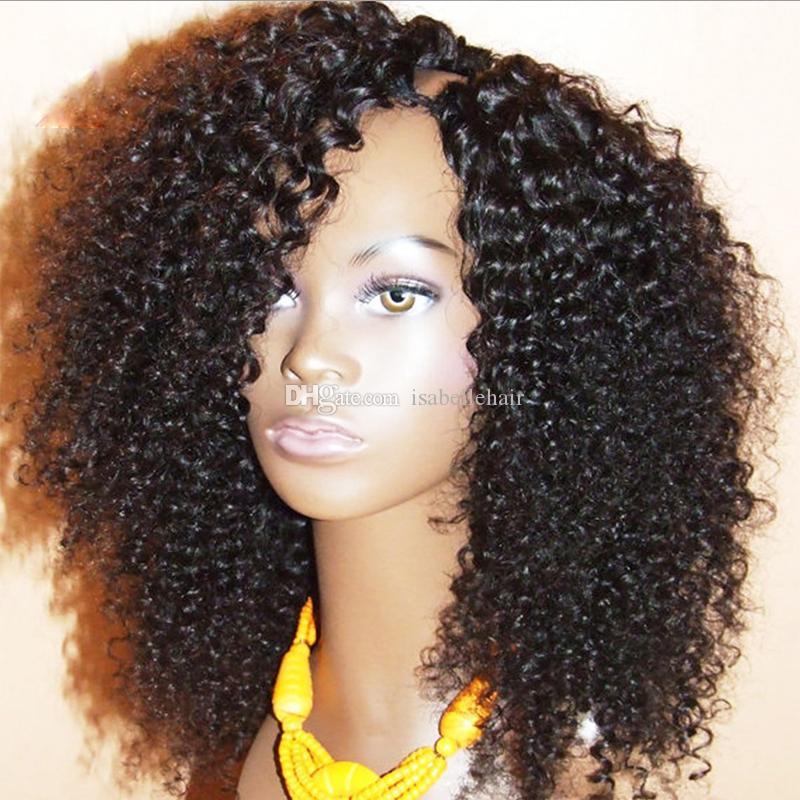 9A 1 * 3 왼쪽 부분 흑인 여성용 파트 가발 브라질 버진 킨키 곱슬 upart 인간의 머리 가발