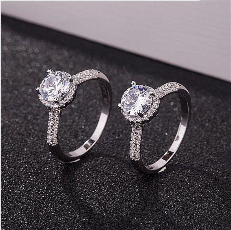 Luxo 925 Sterling Silver CZ diamante anel com LOGO caixa Original estilo Fit Pandora Jóias ouro 18K casamento anel de noivado por Mulheres