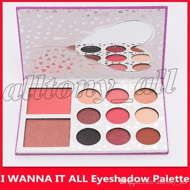 Preço mais baixo DHL grátis O aniversário Collection I WANT IT ALL Eyeshadow Bronzer Blush Palette 9 cores Eyeshadow Set Makeup