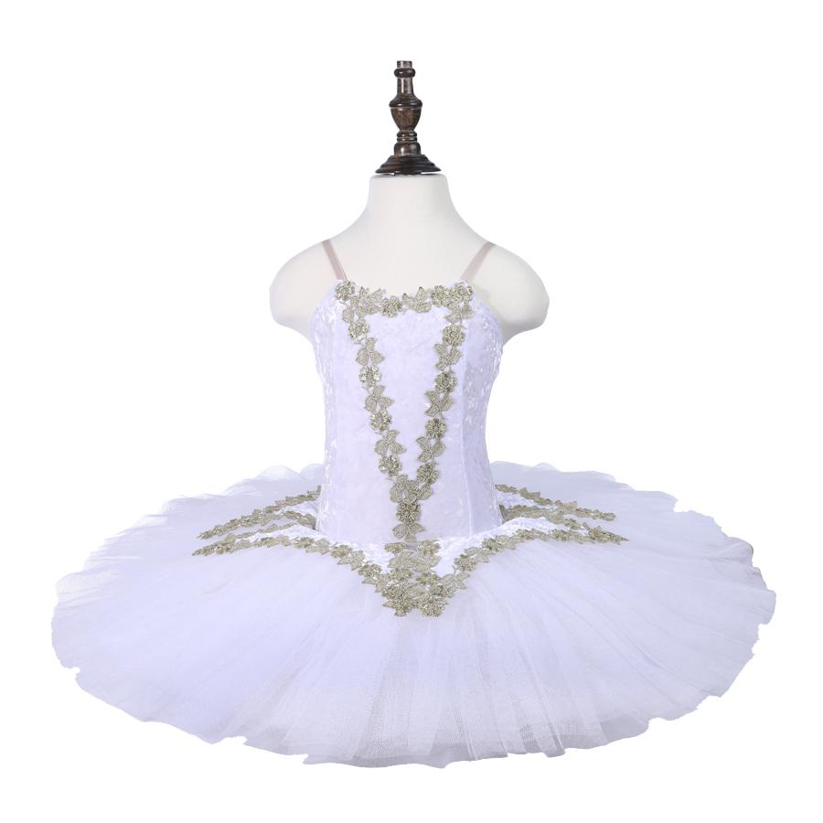 White Swan Lake Ballet pattern Tutu Costume Girls Children Ballerina Dress For Girls Kids Ballet pancake Dress Dancewear