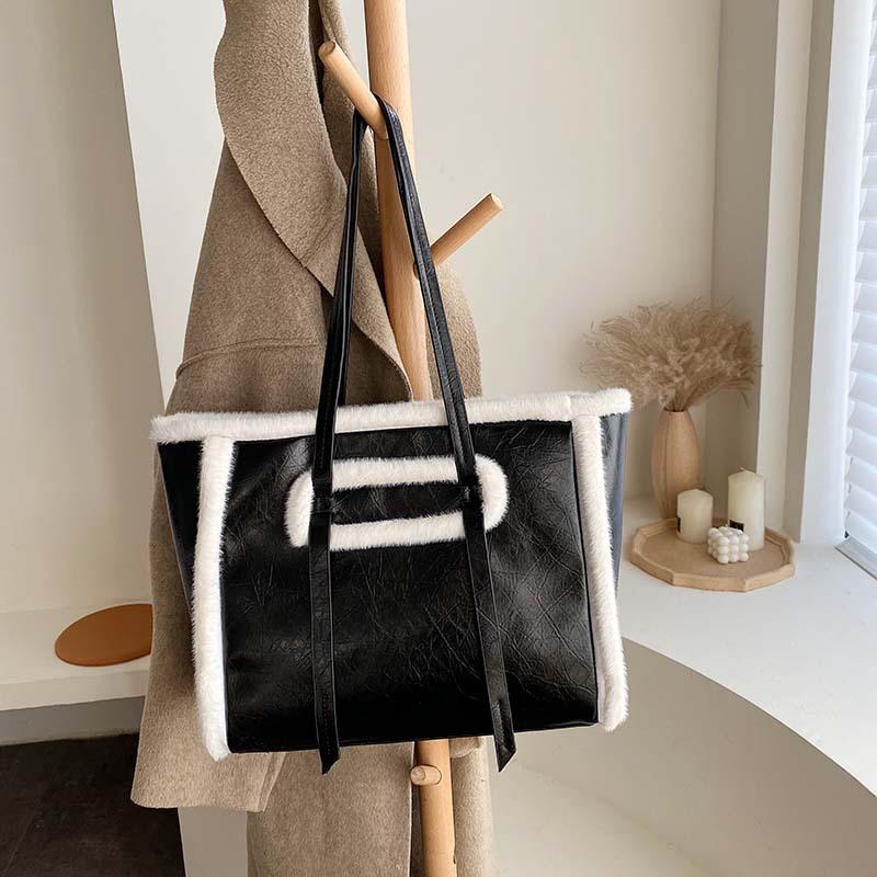 donne borsa annata spalla retrò femminile 2019 New Winter Fashion Handbag Tote Bag