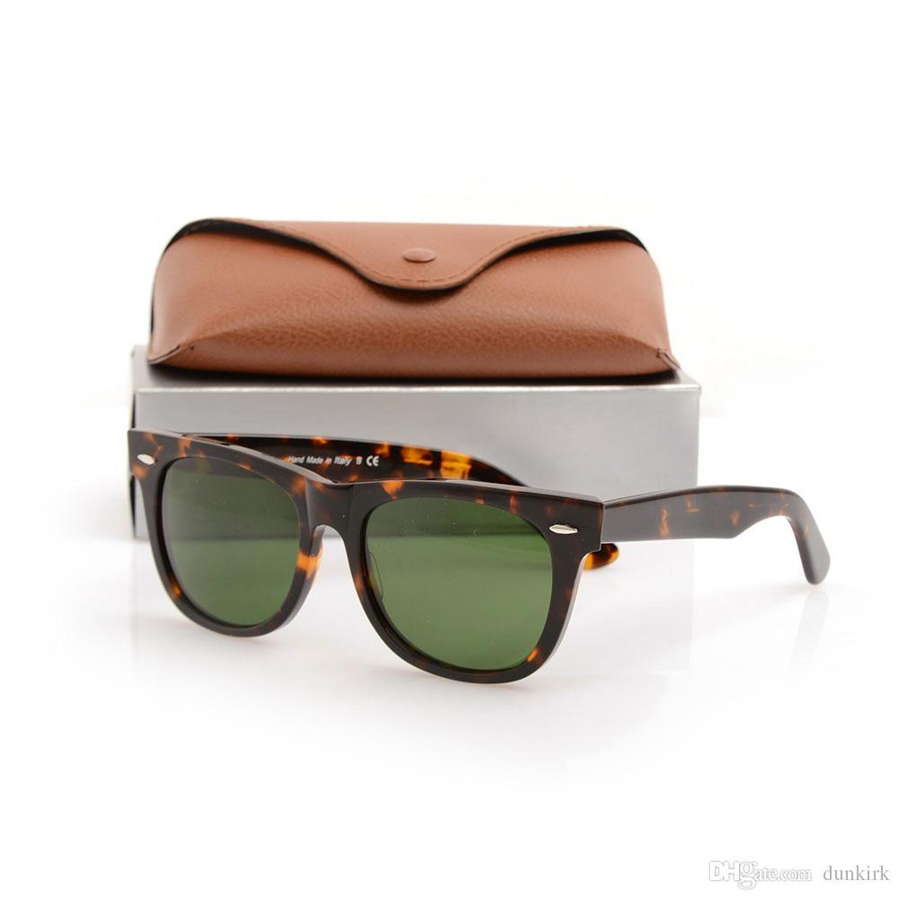New Brand Designer Mens Womens Sun glasses Plank glasses Tortoise Frame Sunglasses glass Lens Green Lens glasses Sunglasses with brown cases