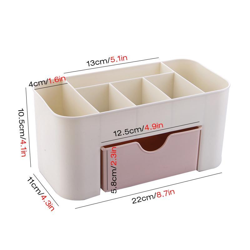 Plastique boîte de rangement maquillage Organisateur boîte cosmétiques Conteneur Rouge à lèvres Porte-bijoux tiroir Organisateur Mêle Case Boîte de maquillage