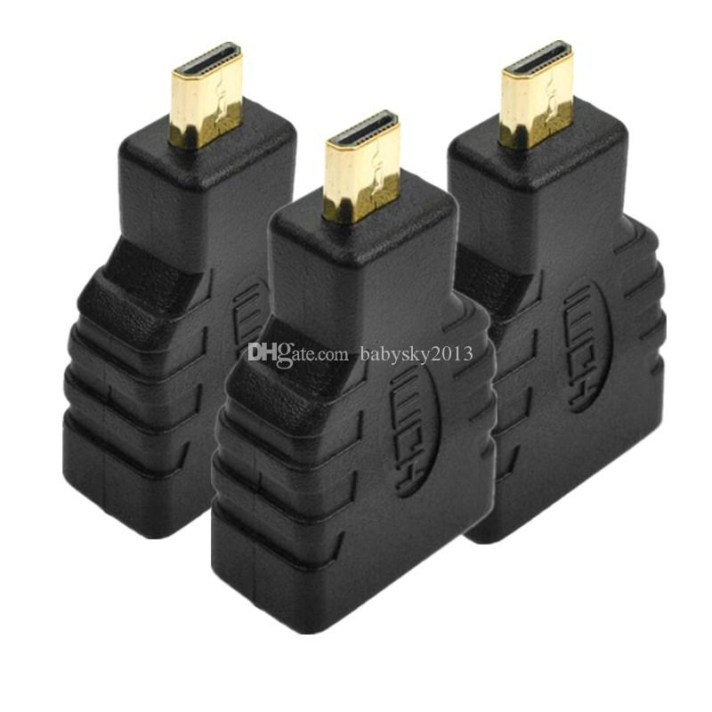 Micro HDMI Type D Male to HDMI Type A Female Standard extension Adapter Converter for HDTV Camera MP4 Tablet