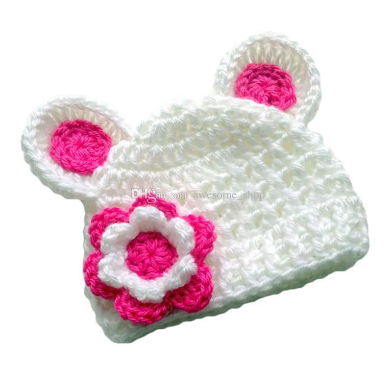 presa di fabbrica sempre popolare super carino Acquista Cappello Adorabile Dell'orso Del Bambino Con Il Fiore ...