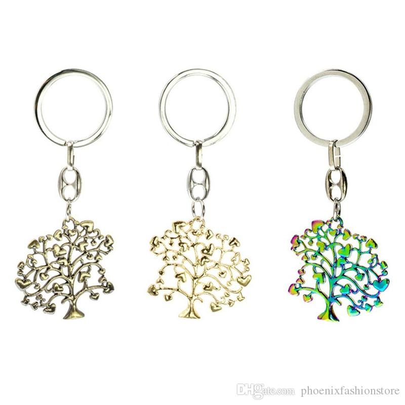 Original Fashion Antique Bronze Color/ Gold Color/ Rainbow Color Wishing Tree Charm Pendant Keychain Key Ring DIY Jewelry Birthday Gift