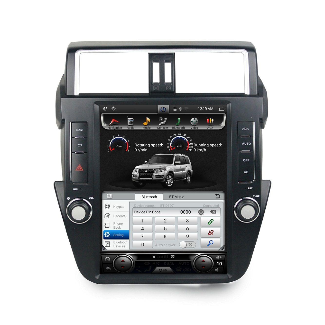 "2gb+32gb Android 7.1 Quad core 12.1"" Car DVD Player for Toyota Prado 150 LC150 2014-2017 Car Radio GPS Audio Bluetooth WIFI Mirror-link"