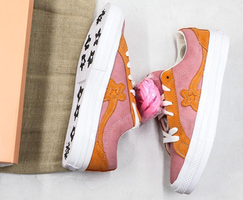 Creator One All Stars And Golf Le Fleur Suede Casual Canvas Shoes For Man Women Blue Pink Orange Designer Zapatos Sneaker Skate Shoesl14 Munro Shoes Pink Shoes From Topshoes6666 96 63 Dhgate Com