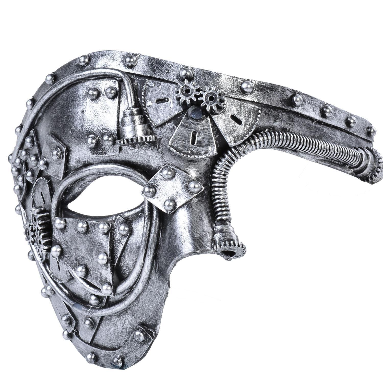 Erkekler Kostüm Maskesi Vintage Steampunk Yarım Yüz Cadılar Bayramı Partisi Masquerade Maske Erkek Venedik Kostümleri Karnaval Için