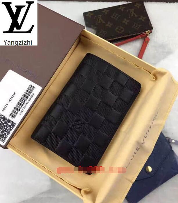 Catena Portafoglio Raccolta Lungo degli uomini di cuoio Yangzizhi Nuova N63007james Portafoglio Damier Infini Portafogli compatta borsa pochette da sera Key