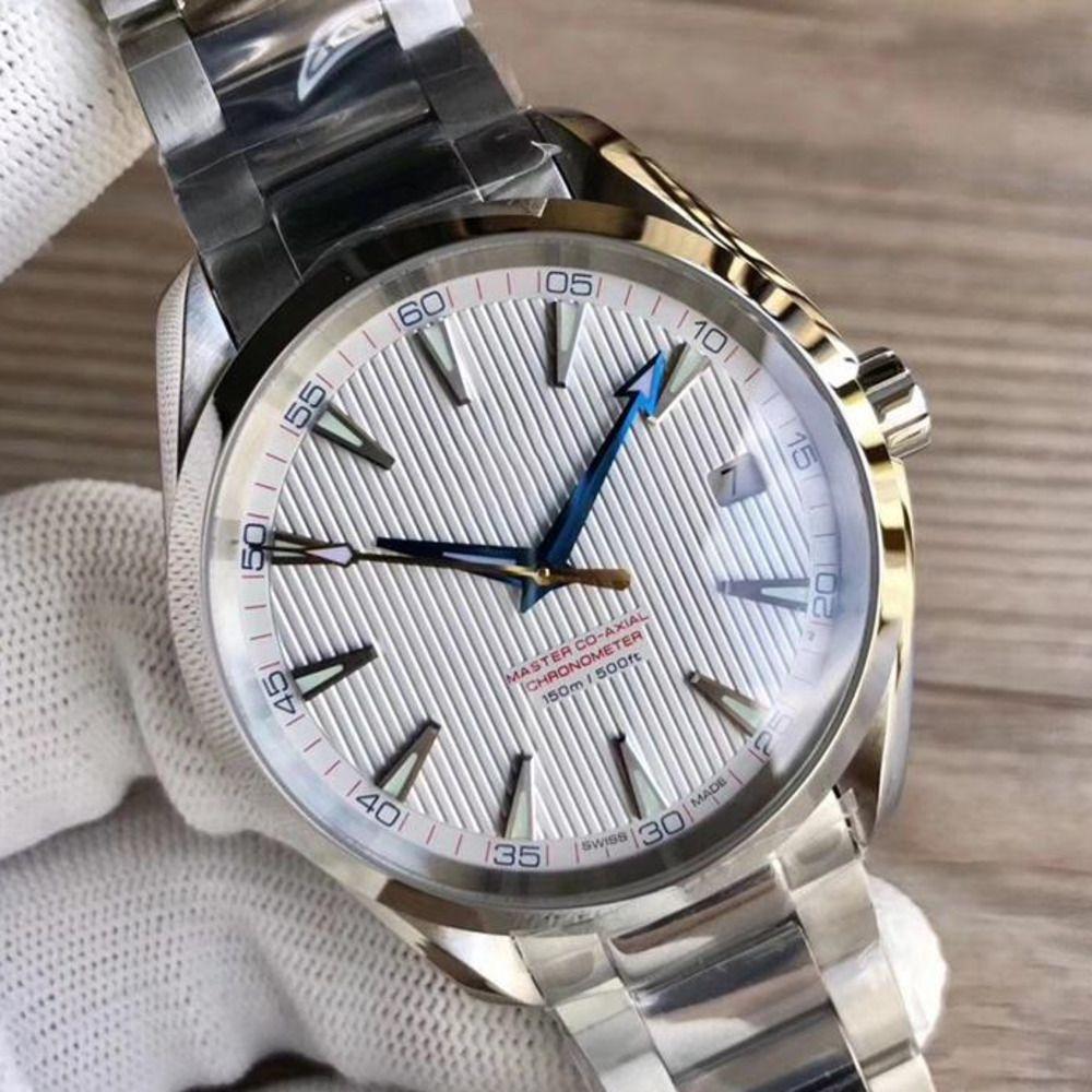 Luxus-Uhren Edelstahl-Armband Aqua Terra 150m Meister Edelstahl 23110422101004 Mann-Uhr-Armbanduhr