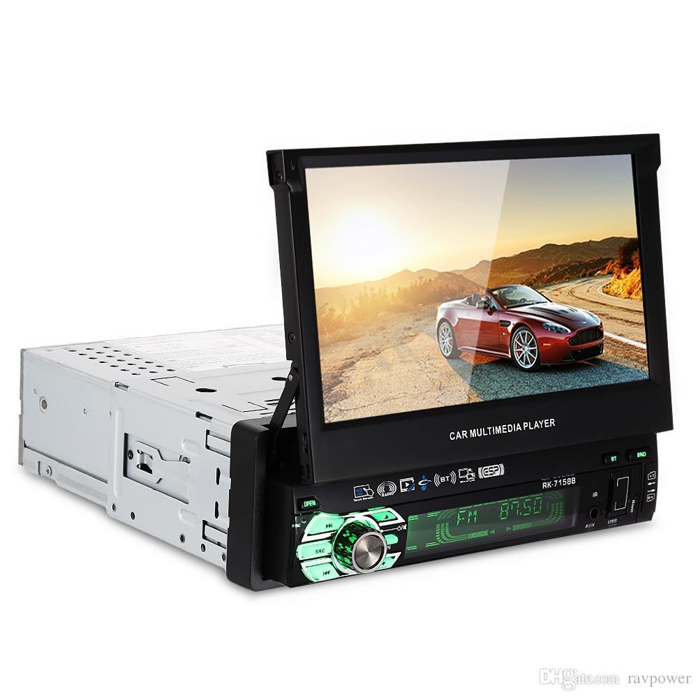 유니버셜 7158B 차량용 DVD 플레이어 AM FM 라디오 7 인치 터치 스크린