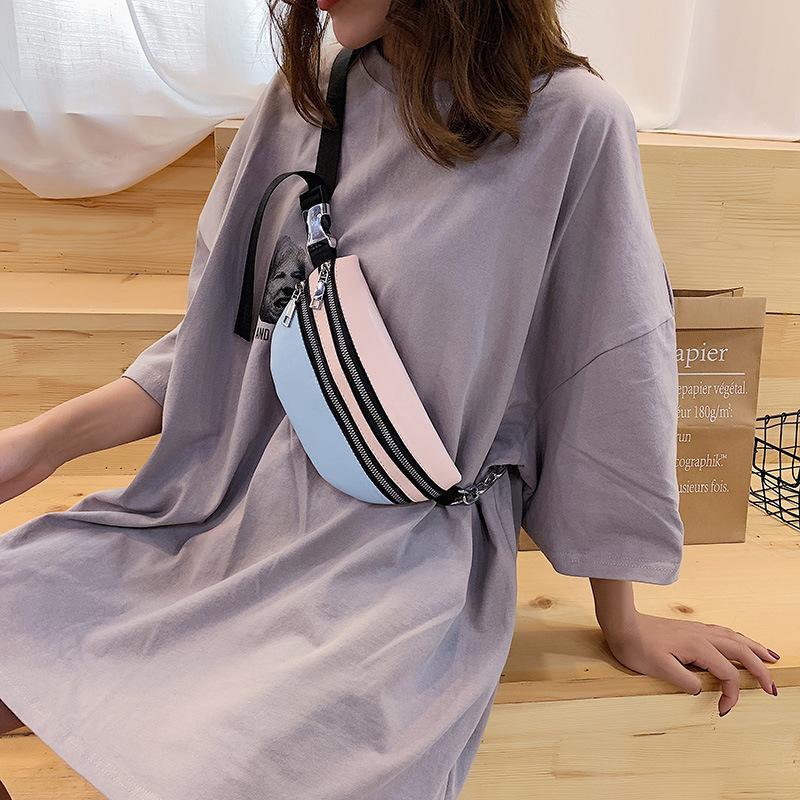 Casual Nouveau Sac Femme Dames Coréen Coffre Mesdames 2020 Mode diagonale Sac de sport Diagonal sauvage Mduop