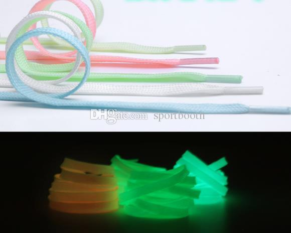 1*120cm Sport Luminous Shoelace Glow In The Dark Night Color Fluorescent Shoelace Casual Athletic Shoe Laces For Shoes