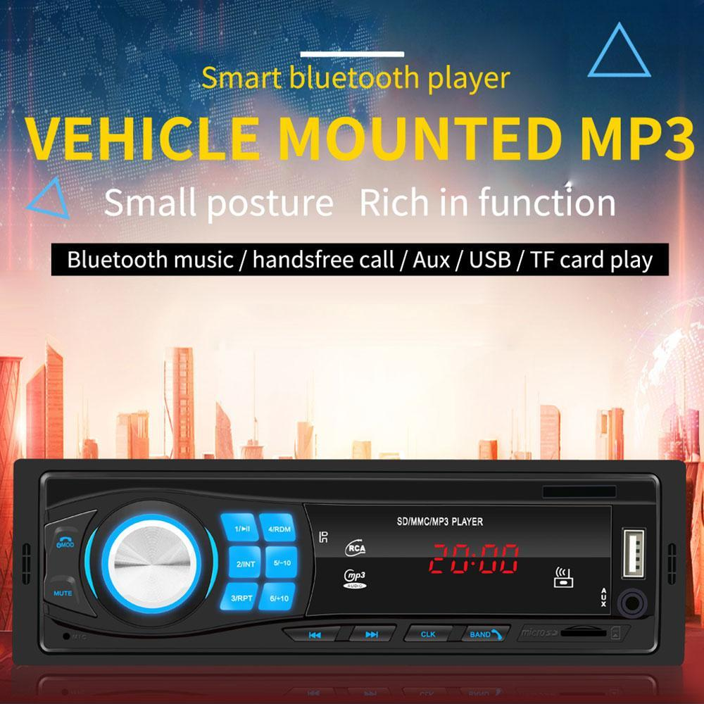 Universal Car Mp3 Player With Bluetooth Sd Mmc Mp3 Player Support Fm Radio Tf Card Infrared Remote Control Eq Sound Effect 12v