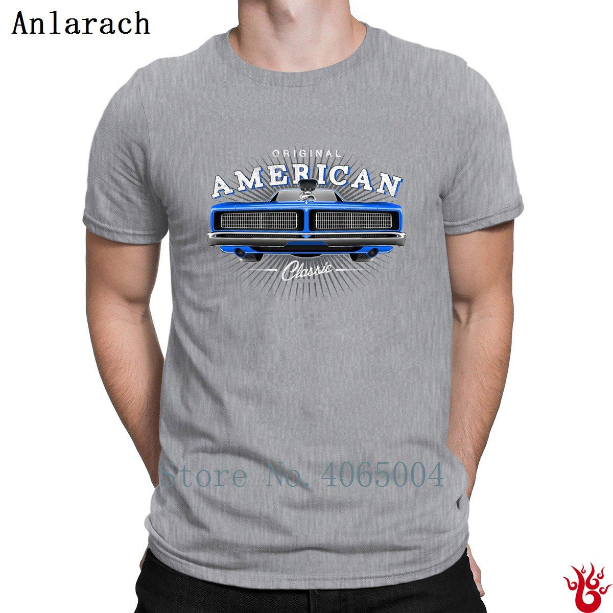 Классический Dodge Charger Мышцы автомобилей Blues Смешной Известные с коротким рукавом Мужские футболки Мужские Осень Природные футболках HipHop Tops