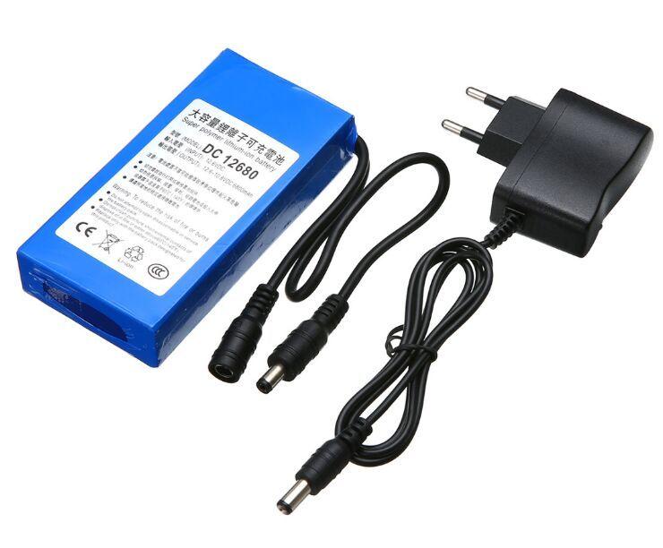 قابلة للشحن بطارية ليثيوم بو بطارية DC 12V 6800mAh حزمة لكاميرا CCTV ، إضاءة LED ، DVD ، PDA المعدات الطبية لعبة GPS الولايات المتحدة الاتحاد الأوروبي التوصيل