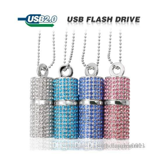 Wholesale usb Flash Drive 4G 8G 16G 32G Pen drive U Disk Cylinder Bamboo Pendrive rectangle USB 2.0 memory stick could be a necklace pendant