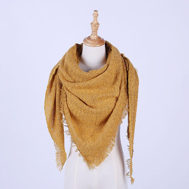 Wandern Schal Frauen Decke Schal im Freien windundurchlässigen Frau Winter-Schal Imitate Cashmere Schale Weibliche Kleidung Accessoire