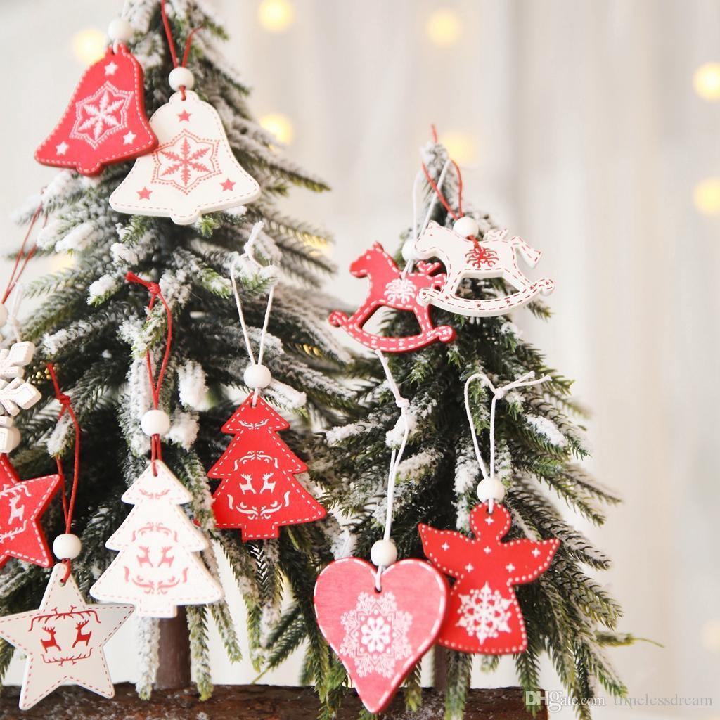 Arbre Bois Blanc Decoration acheter 8 modèles ornement blanc arbre de noël rouge