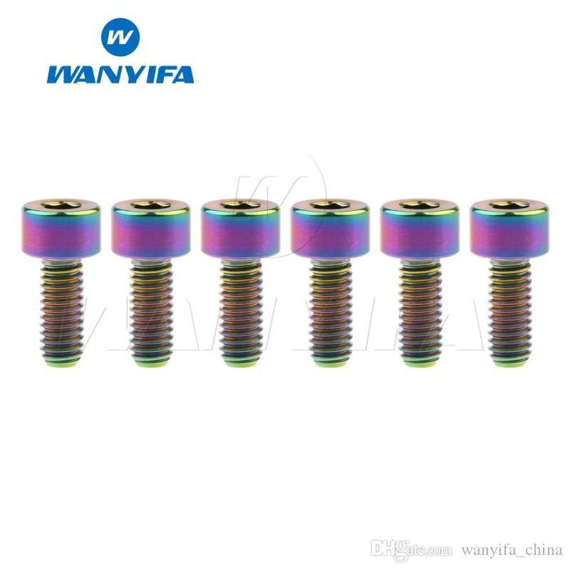 Wanyifa Titanium Bolts M4x10/12/15mm Allen Key Socket Square Head Screw Bicycle Ti Fastener