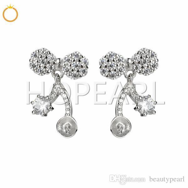 Pendientes plata flor largo para mujer nuevo diseño encantador Niñas Navidad Regalo dsu