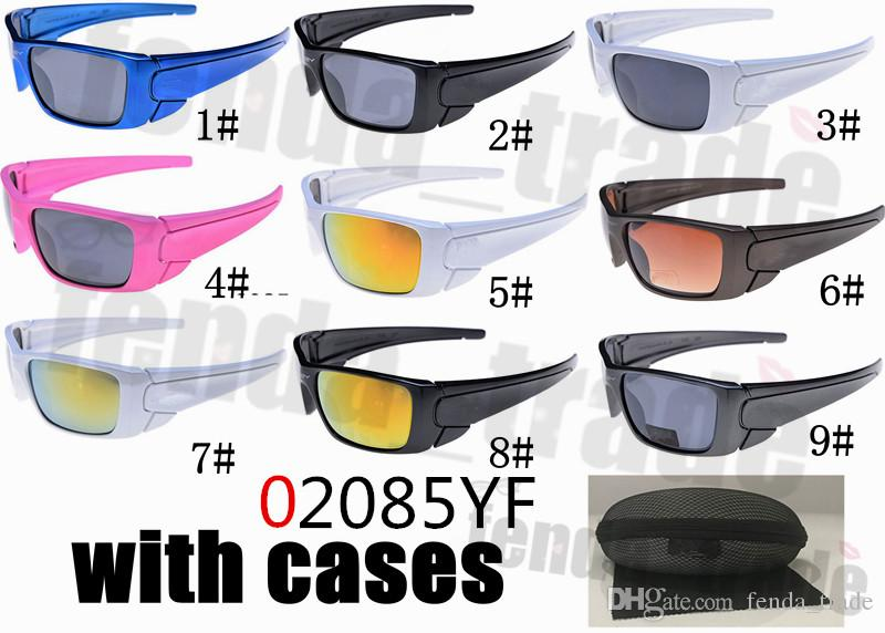 With case HOT Selling Cycling Sunglasses Men Pink Sports sunglasses Women Sport Sunglasses Glasses for Bicycle Gafas Ciclismo 9 Colors 10PCS