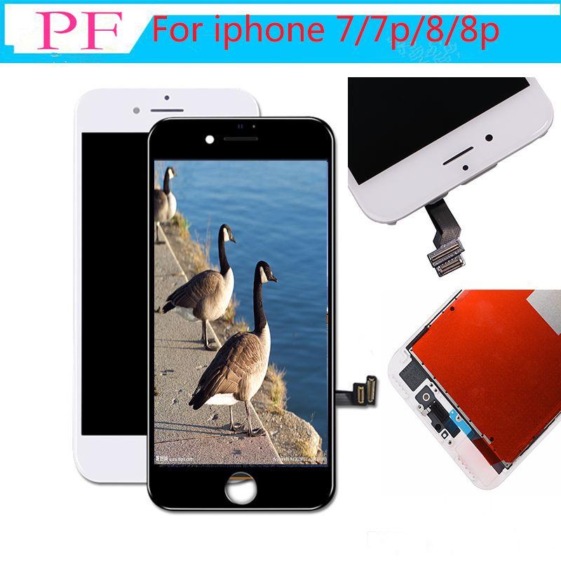 ارتفاع Brigtness للحصول على اي فون 8 8 زائد شاشة LCD تعمل باللمس 3D محول الأرقام الجمعية LCD استبدال NO الميت لا بكسل القتلى