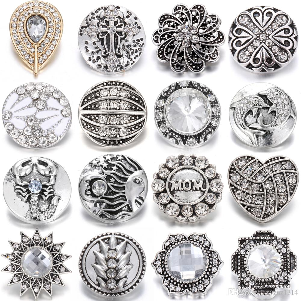 New Noosa Chunks Ginger Style Snap Button Charms Lucky Elephant Silver 20mm