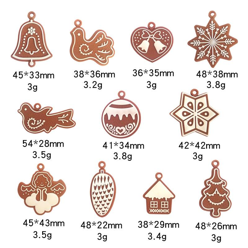 Christmas Tree Hanging Pendant Snowman Elk Snowflake Cellphone Charm Handbag Pendant Xmas Party Home Ornaments