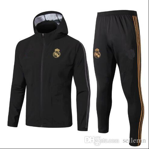 2019 Real Madrid mens hoodies jacket windbreaker tracksuits soccer jersey Windbreaker winter coat sweater