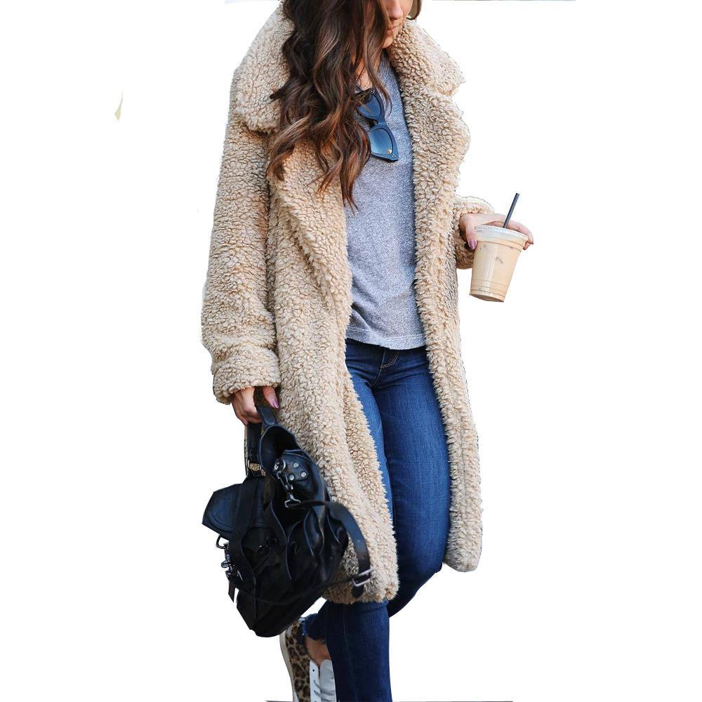 Américaine et de la mode moderne européenne Tendance élégant de style pour les femmes manteau d'hiver Veste coupe-vent chaud Gardez Cardigan en vrac Laines Manteau
