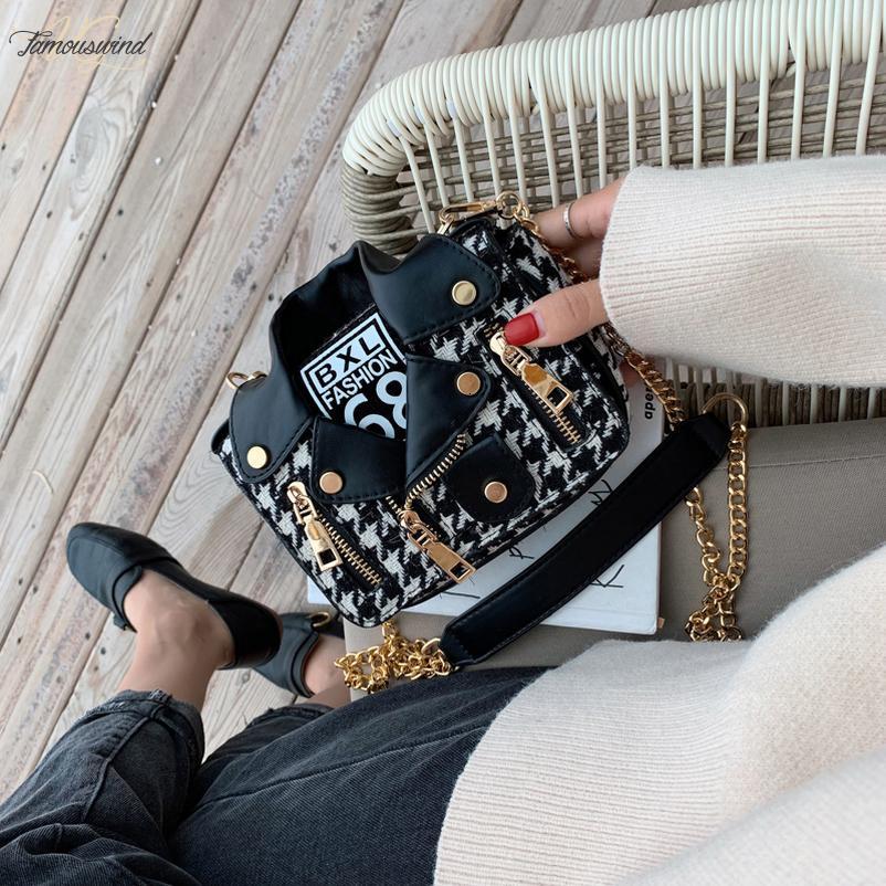 2020 새로운 셔츠 모양 여성 코튼 리넨 가죽 숄더 백 한국어 스타일 푸 디자이너 리벳 핸드백 작은 사각형 가방