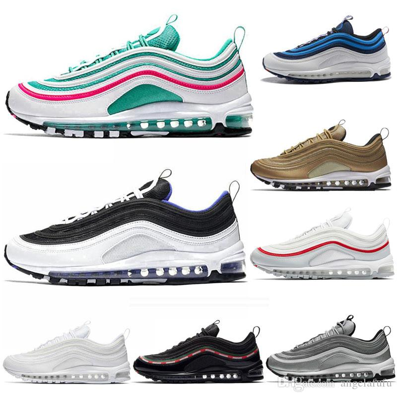 2019 Running Shoes Mustard Chaussures SE South Beach Pull Tab Triplo preto branco dos homens Mulheres instrutor Designer Sports Sneakers 36-46
