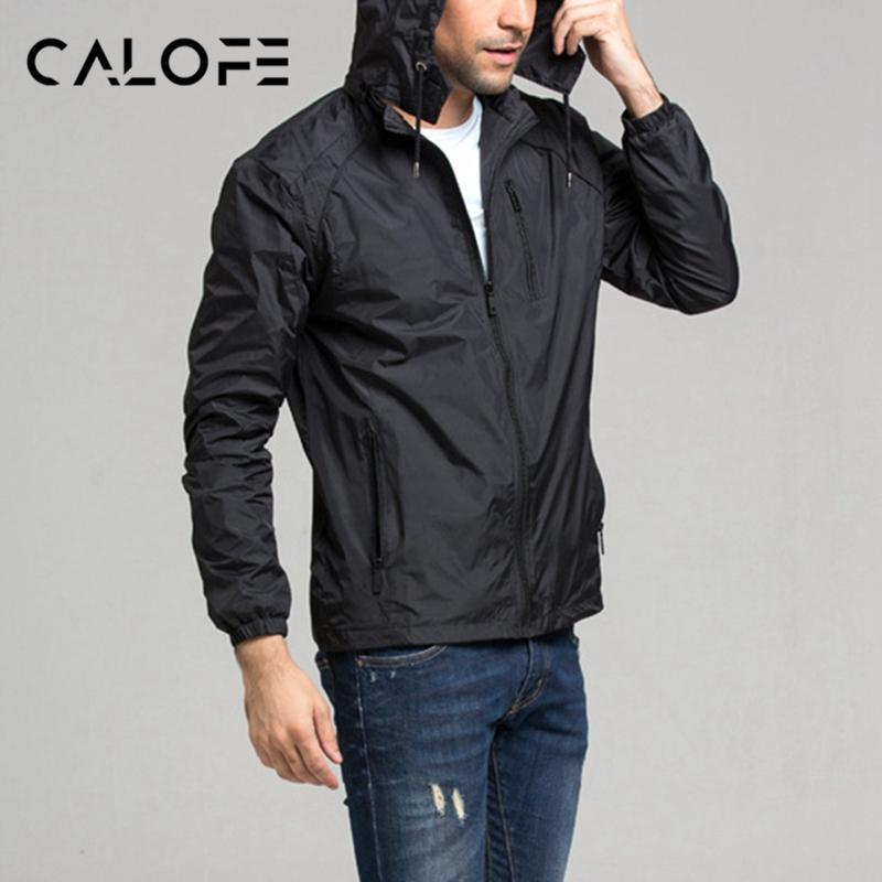 All'ingrosso-CALOFE Man Sport Giacca da uomo Giacca a vento con cappuccio Ultralight Sport giacca a vento Quick Dry Outdoor Autunno sportivo