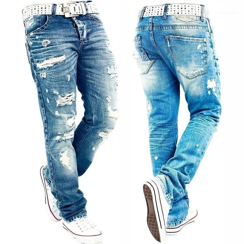 Jeans Men Jeans homem Jean Homme Men's Classic Fashions Homens Calças Jeans Motoqueiro Calças Calças ganga Calças Largas Calças Justas estrias Ripped1