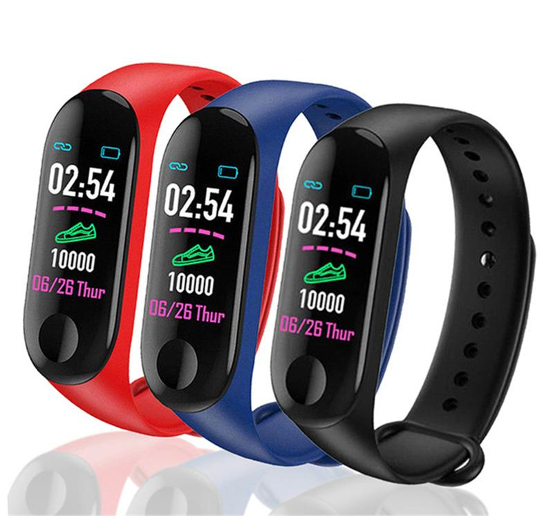 M3 Smart Bracelet Fitness Tracker Heart Rate Watch Wristband Blood Pressure Smart Wristbands for samsung HTC smart phones