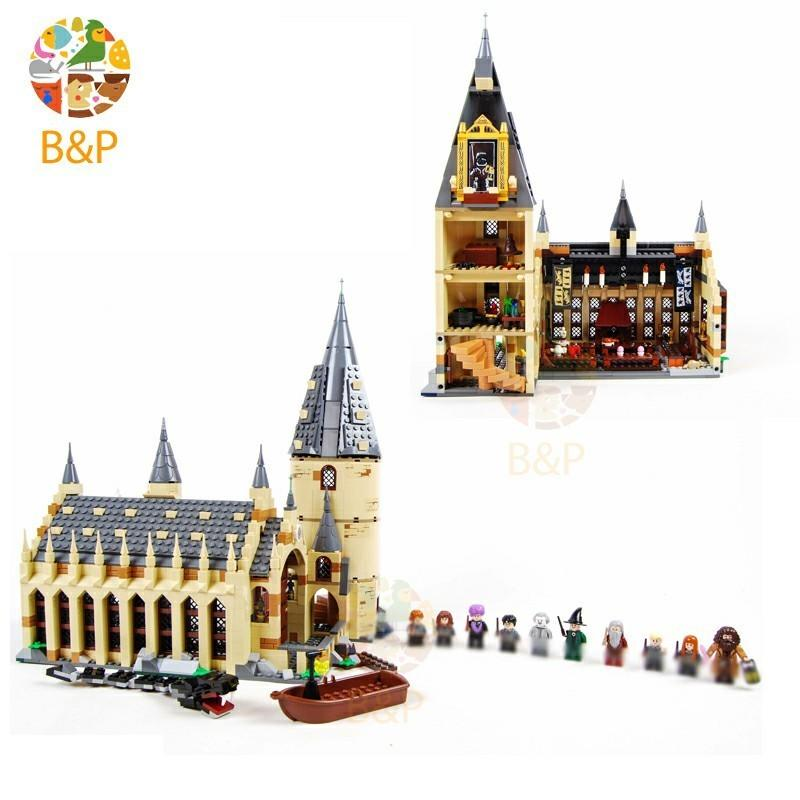 Harri Potter The 75954 Hogwarts Great Wall Set Model Building Blocks House Kids Toy For Birthday Gift J190719