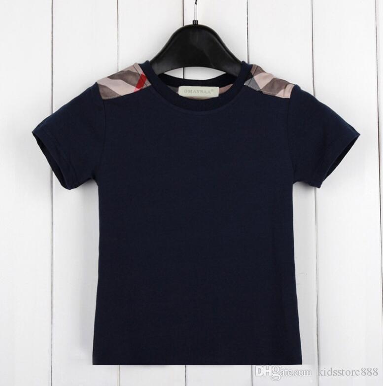 التجزئة طفل رضيع قصيرة الأكمام تي شيرت القطن الخالص الأطفال ملابس الصيف نمط جديد تماما قمم الاطفال تي بوي تي شيرت